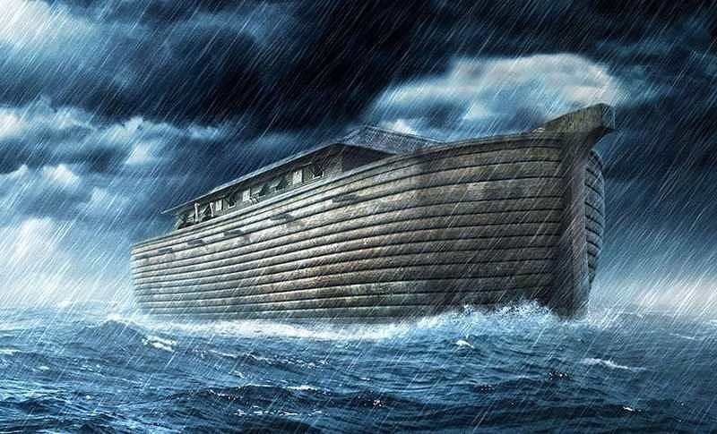 Ковчег в водах потопа